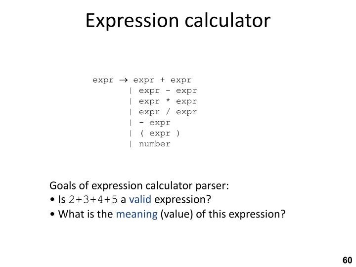 Expression calculator