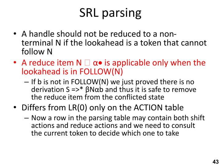 SRL parsing