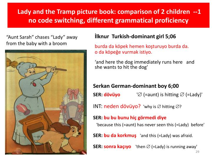 Lady and the Tramp picture book: comparison of 2 children  --1