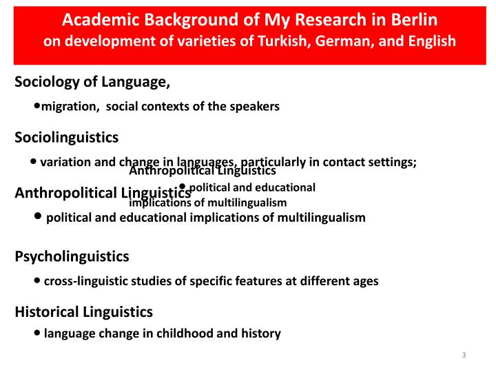 Academic Background of My