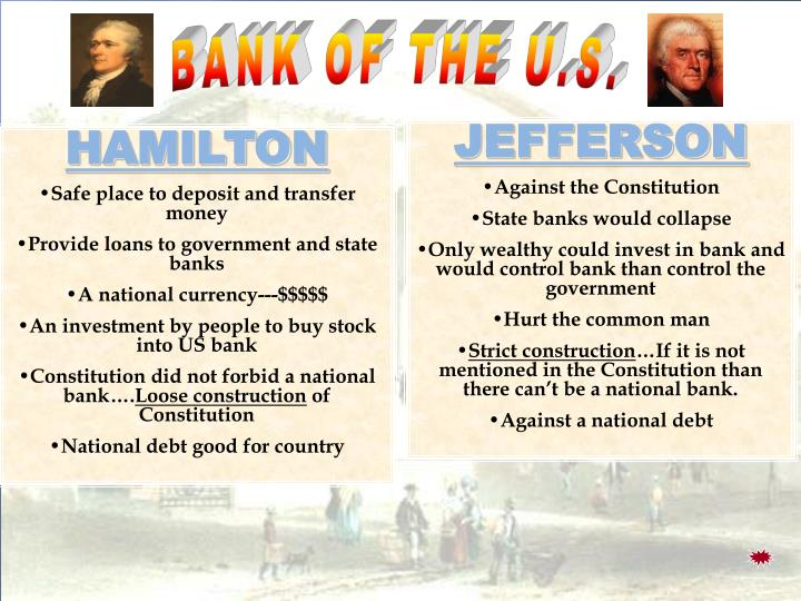 BANK OF THE U.S.