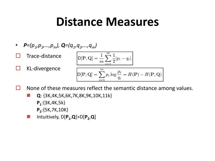 Distance Measures