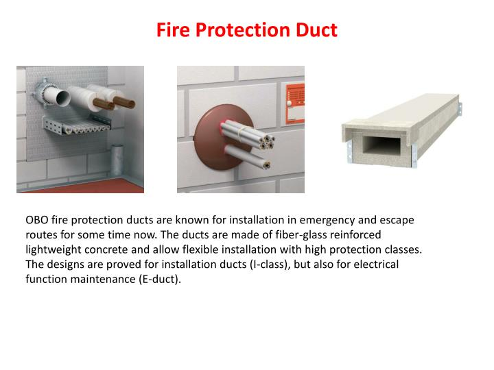 Fire Protection Duct