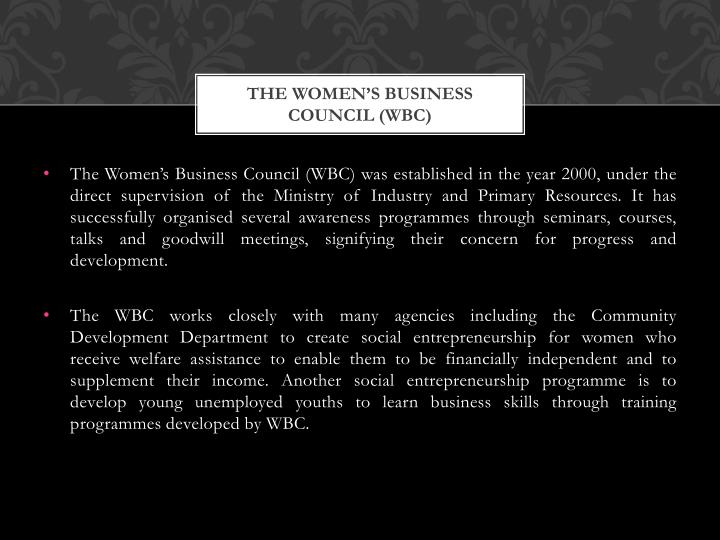 The Women's Business Council (WBC)