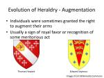 evolution of heraldry augmentation
