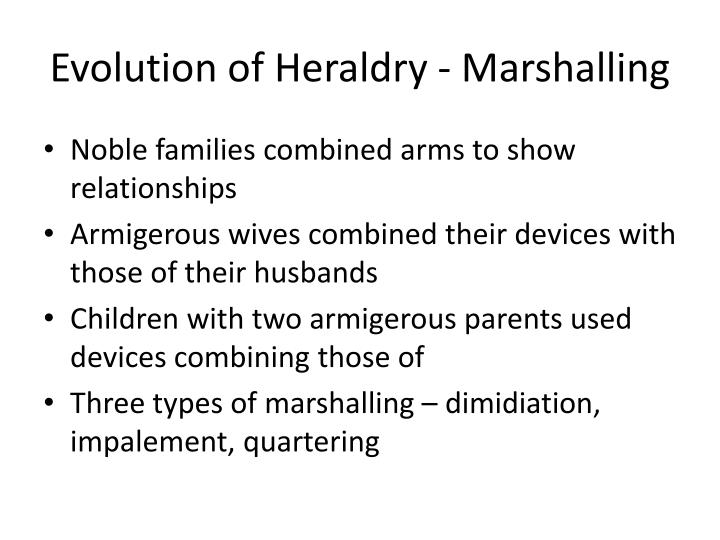 Evolution of Heraldry - Marshalling
