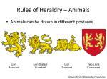 rules of heraldry animals