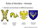 rules of heraldry animals1