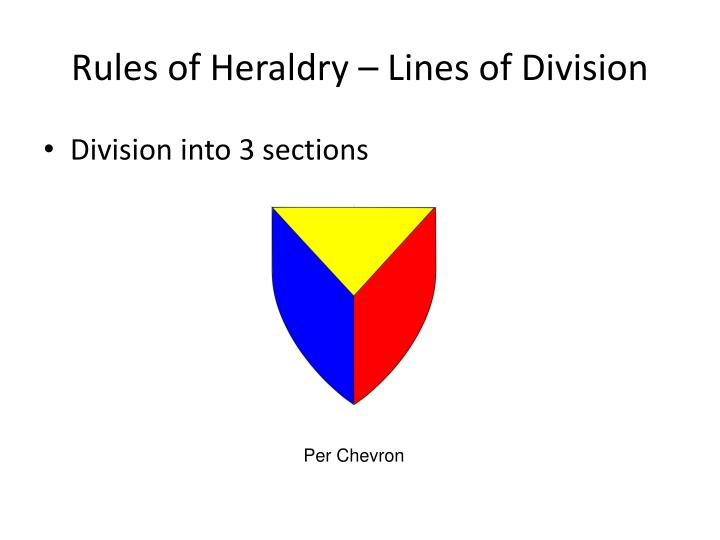 Rules of Heraldry – Lines of Division