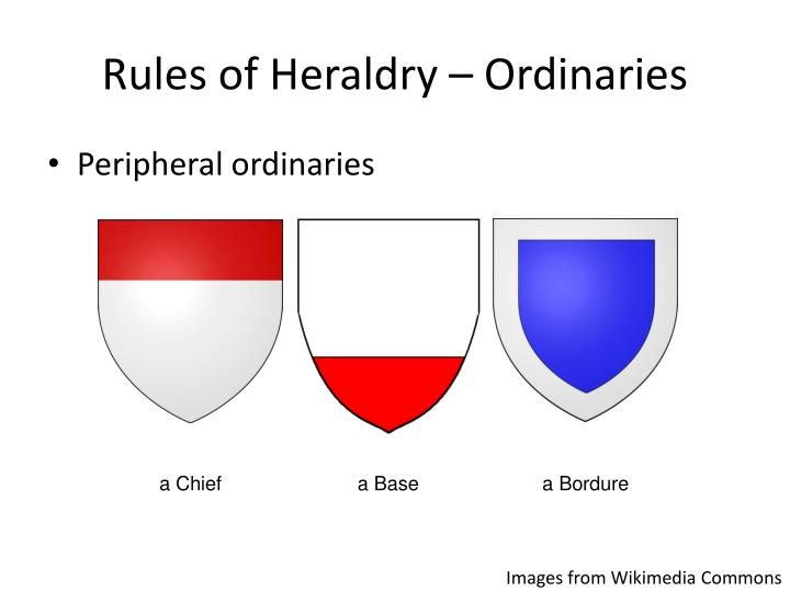Rules of Heraldry – Ordinaries