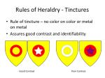rules of heraldry tinctures1