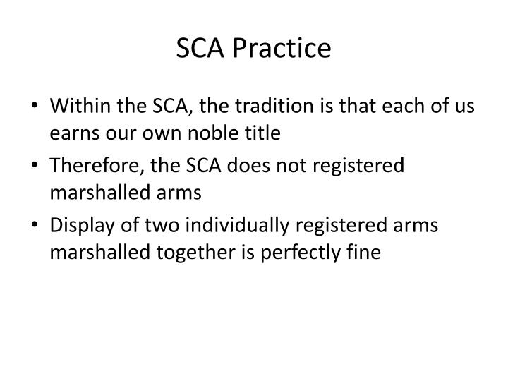SCA Practice