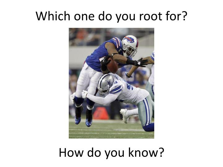 Which one do you root for?
