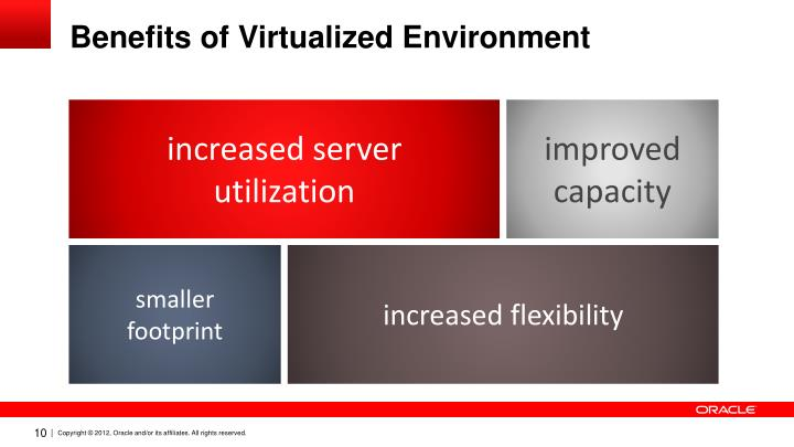 Benefits of Virtualized Environment