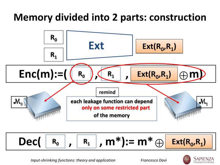 Memory divided into 2 parts: construction