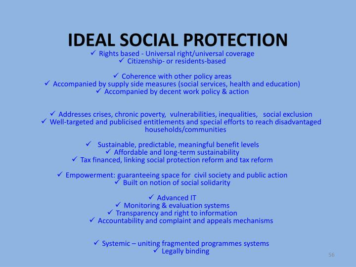 IDEAL SOCIAL PROTECTION