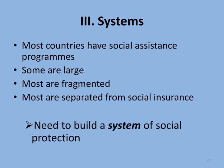 III. Systems