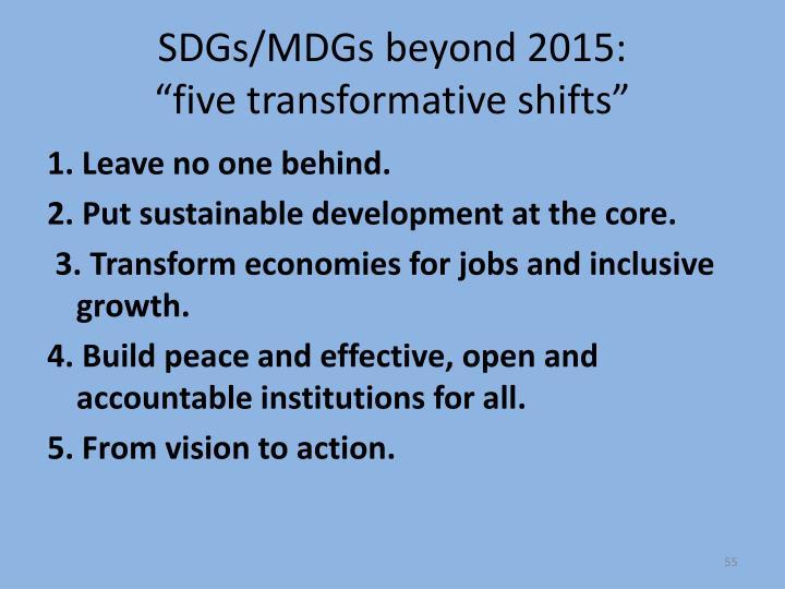SDGs/MDGs