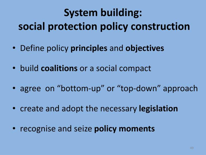 System building: