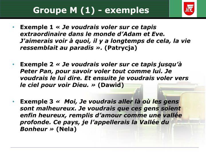 Groupe M (1) -