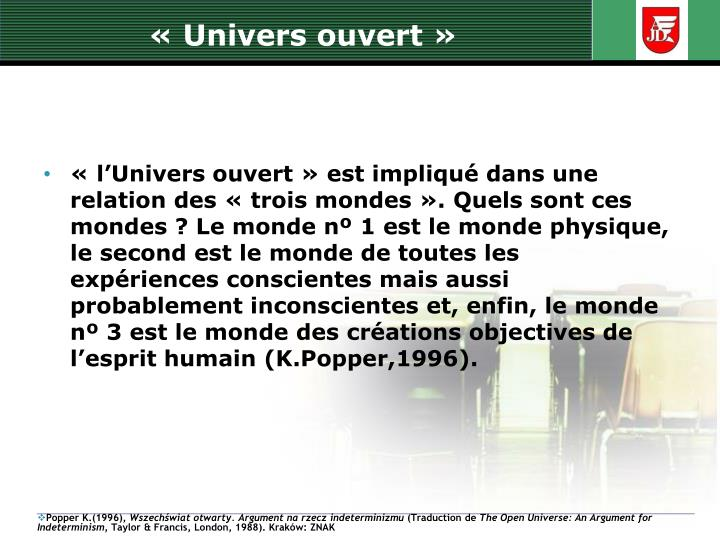 « Univers ouvert »