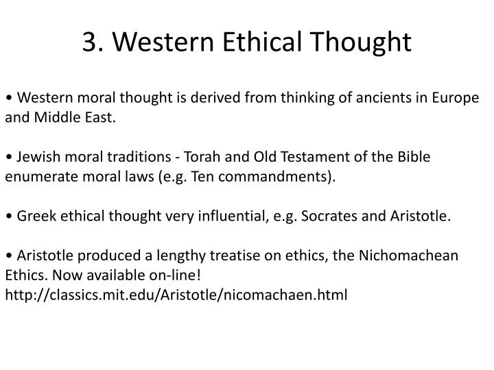 3. Western Ethical Thought