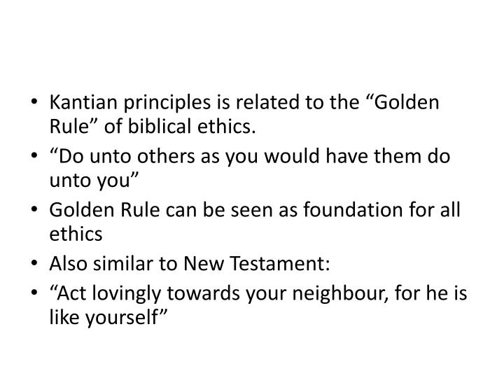 Kantian principles is related to