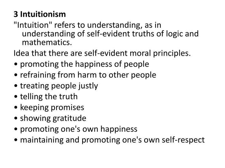 3 Intuitionism