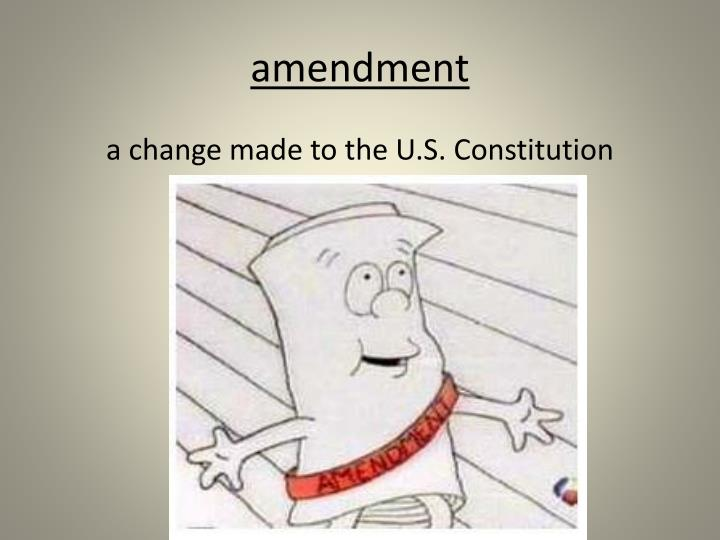 amendment