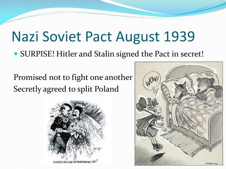 Nazi Soviet Pact August 1939
