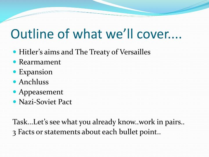 Outline of what we'll cover....