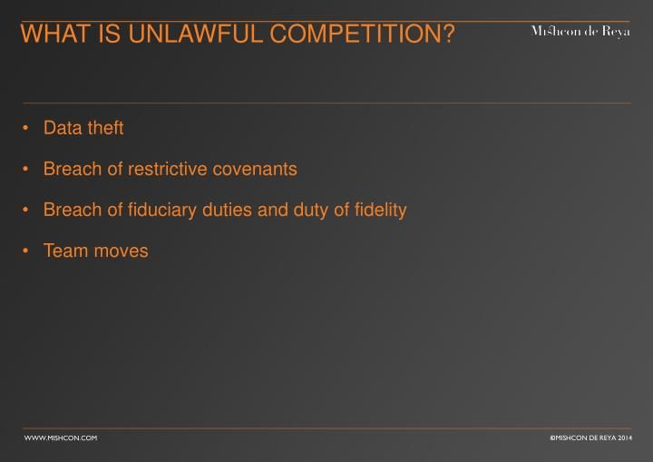 What is Unlawful competition?