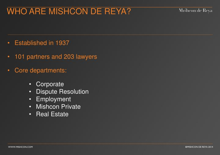 Who are mishcon de reya