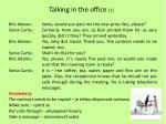talking in the office 1