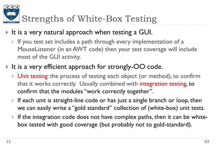 Strengths of White-Box Testing