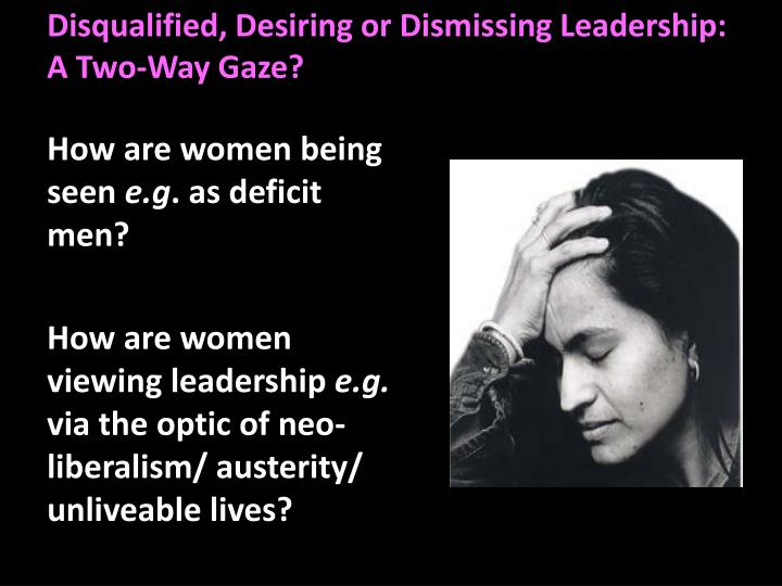 Disqualified, Desiring or Dismissing