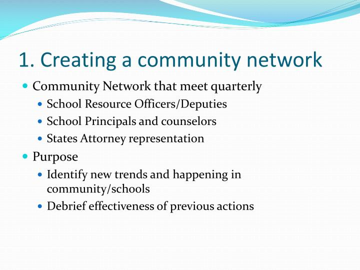 1 creating a community network