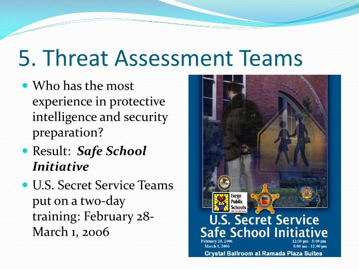 5. Threat Assessment Teams