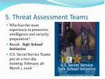 5 threat assessment teams