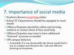 7 importance of social media