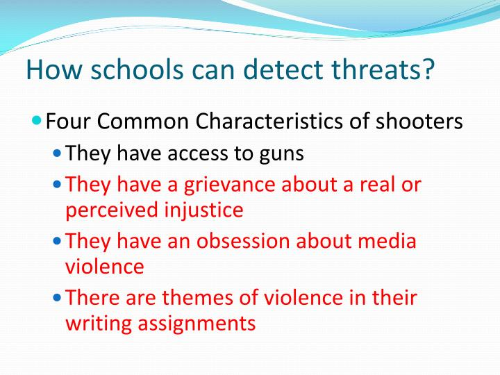 How schools can detect threats?