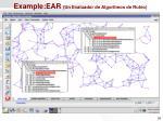 example ear un evaluador de algoritmos de ruteo