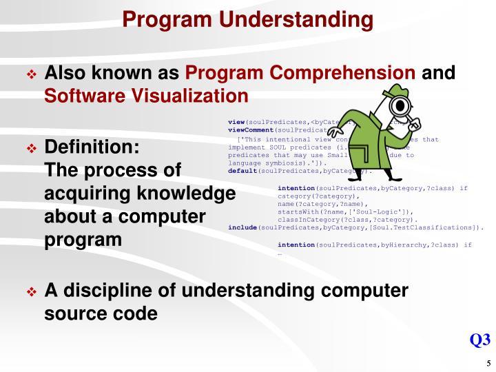 Program Understanding