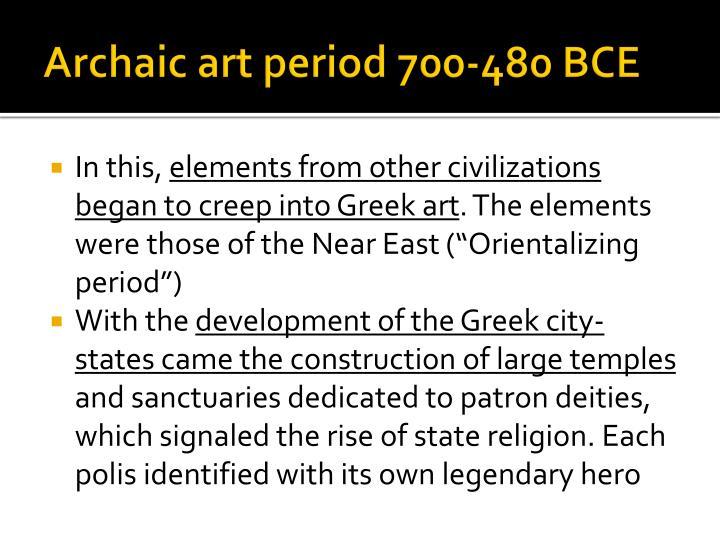 Archaic art period 700-480