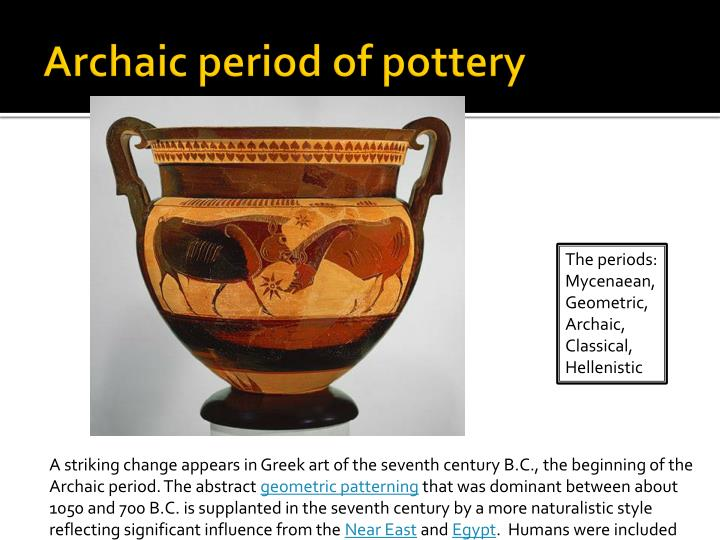 Archaic period of pottery
