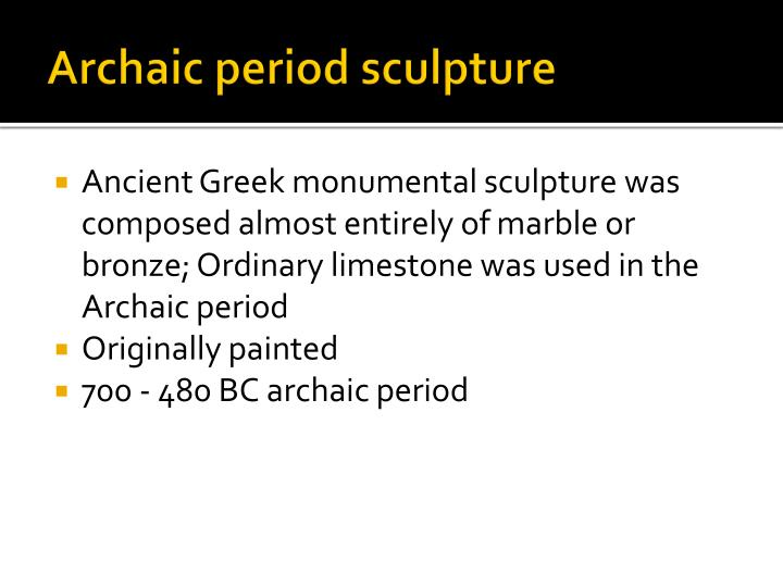 Archaic period sculpture