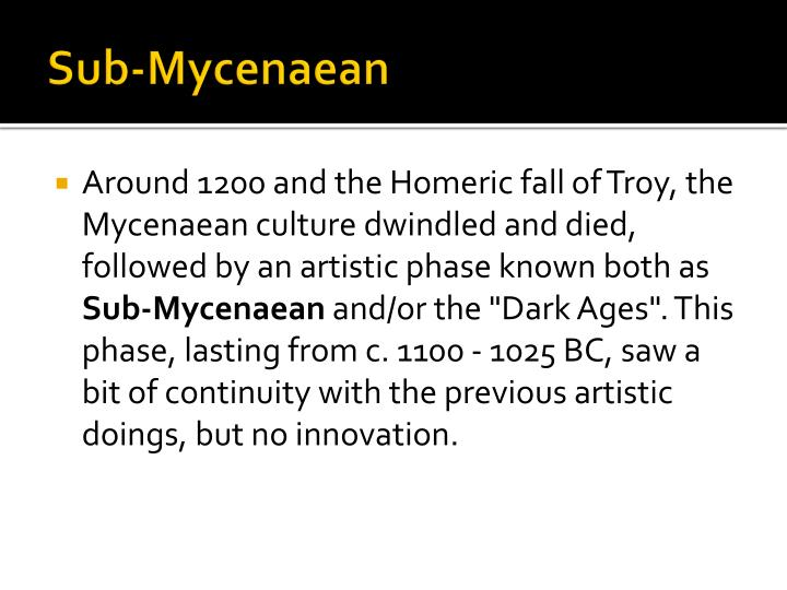 Sub-Mycenaean