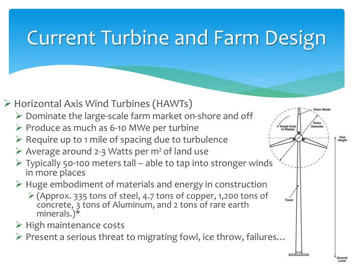 Current Turbine and Farm Design
