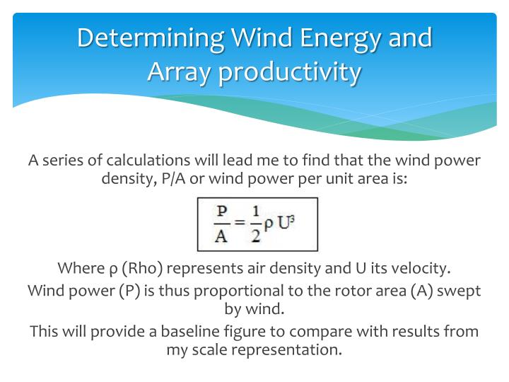 Determining Wind Energy and