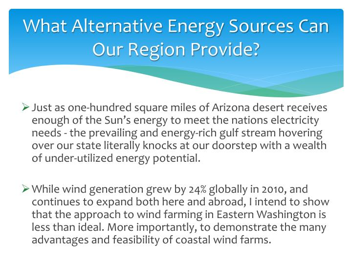 What Alternative Energy Sources